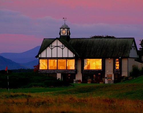Reflected Sunrise, Royal Dornoch Clubhouse 18th October 2007