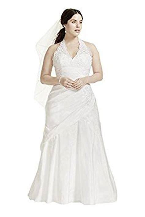 Taffeta Lace Halter A Line Plus Size Wedding Dress Style