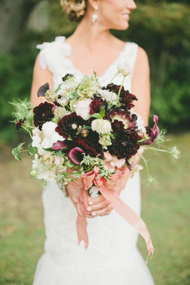 Purple, green, and white bridal bouquet  | Onelove Photography | see more on: burnettsboards.co...