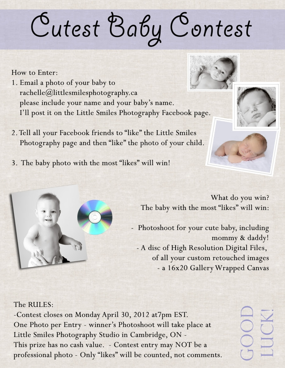 Cutest Baby Contest On Facebook Waterloo Region Baby Photographer