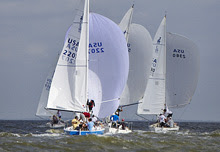J/24s sailing on Galveston Bay, Houston, TX