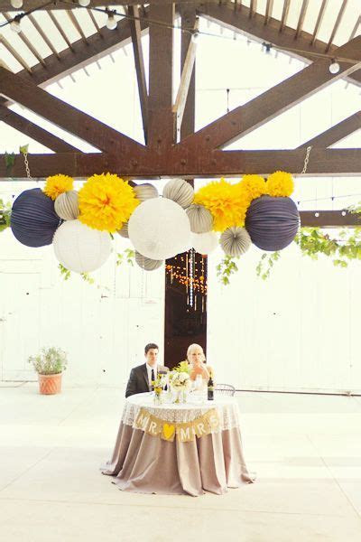 Navy Blue And Yellow Homemade Wedding   To Have & To Hold