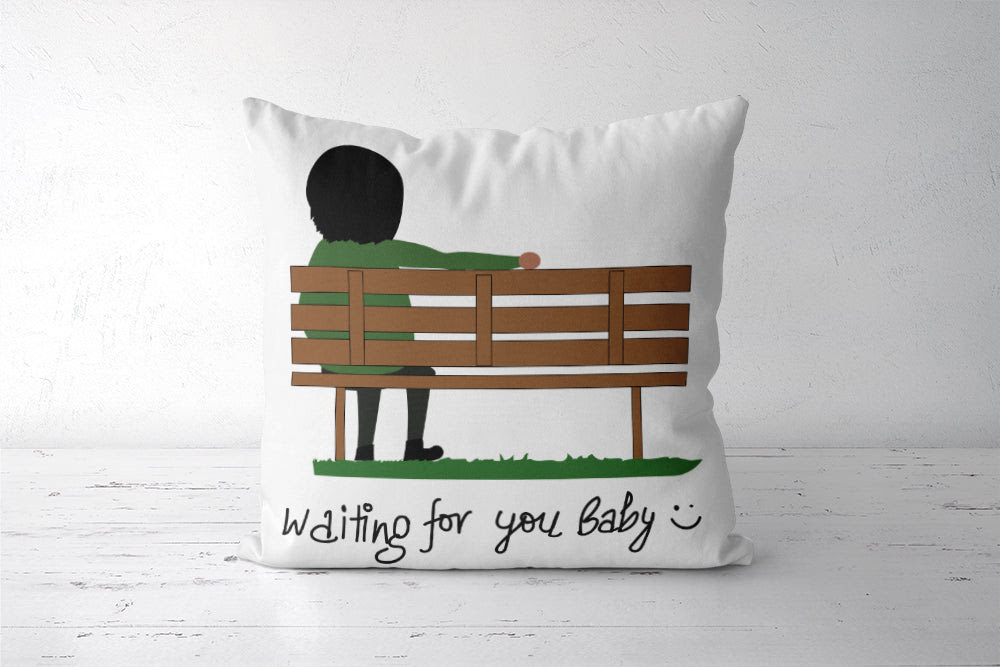 Waiting For You Baby Cushion Cover Cushion Covers Artist Tripund