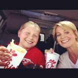 Candace Cameron and son