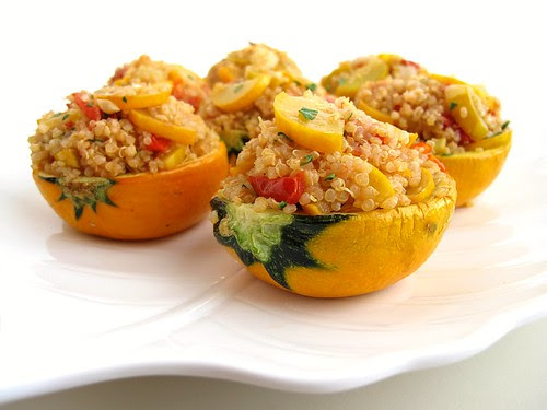 quinoa-stuffed summer squash