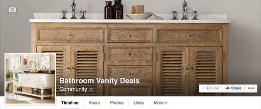 Like my page on Facebook for the latest bathroom vanity coupon codes and sales.
