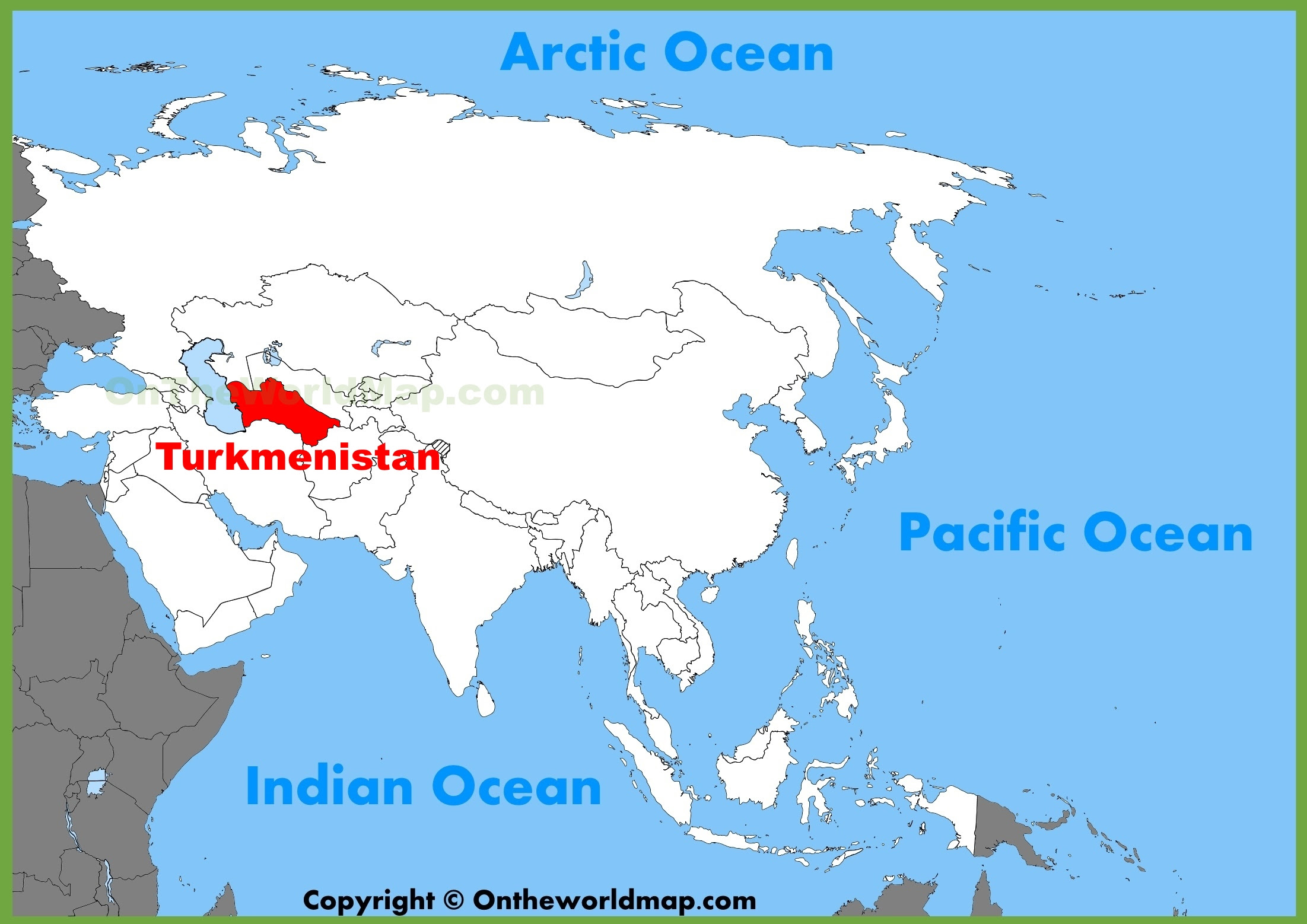 turkmenistan location on the asia map