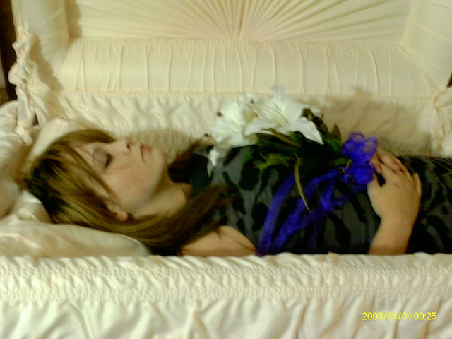 Woman in casket   Flickr - Photo Sharing!