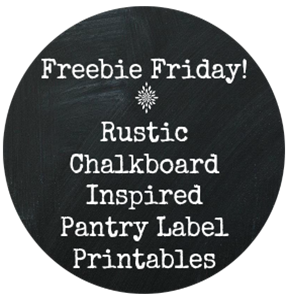 Rustic Chalkboard Inspired Pantry Label Printables  by: New Mama Diaries
