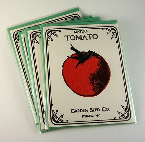 Tomato letterpress cards