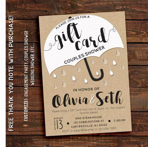 Gift Card Shower Invitation in 2019   Dream Jar   Couples