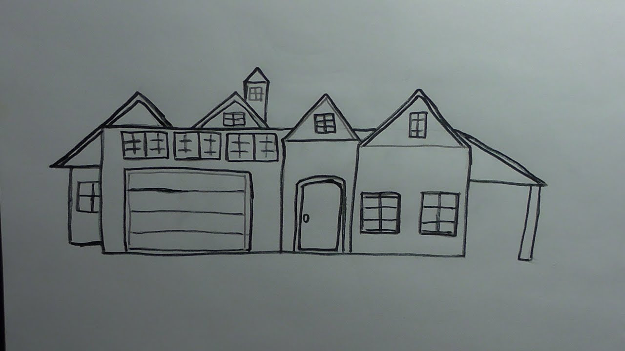 How to Draw a House YouTube