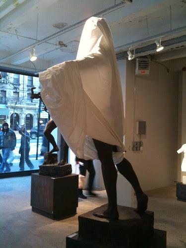 Draped sculpture