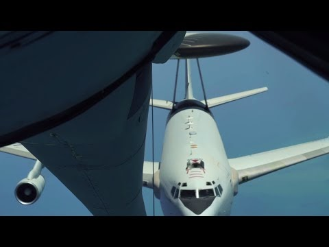 E-3 Sentry Refueling • Al Udeid Air Base Qatar