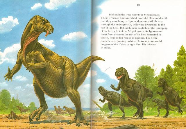 Megalosaurus  chase