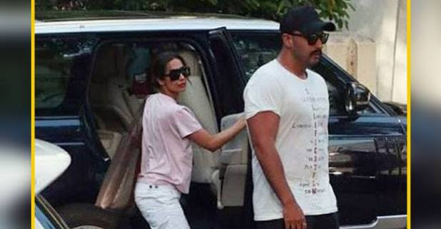 New couple aka Arjun Kapoor and Malaika Arora spotted outside hospital, fueling marriage news for fans