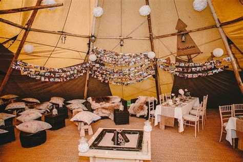 Tipi Wedding in Derbyshire with Vintage Elements   Boho