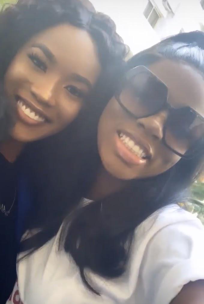 PHOTOS: #BBNaija Star, Diane's diehard fan gifts her N250k during her meet and greet in Abuja