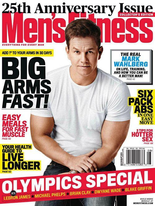 Men's Fitness - July 2012, Mark Wahlberg