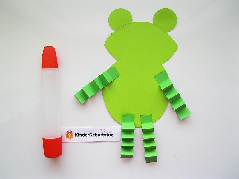 Frosch basteln mit Kindern: Vorlage und Anleitung