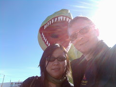 Allie and I posing with a Tyrannosaurus Rex