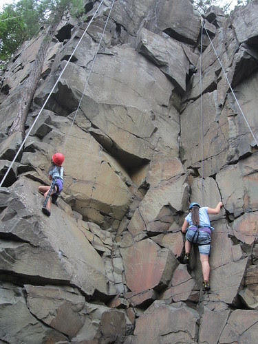 Sophia and Olivia Rock Climbing