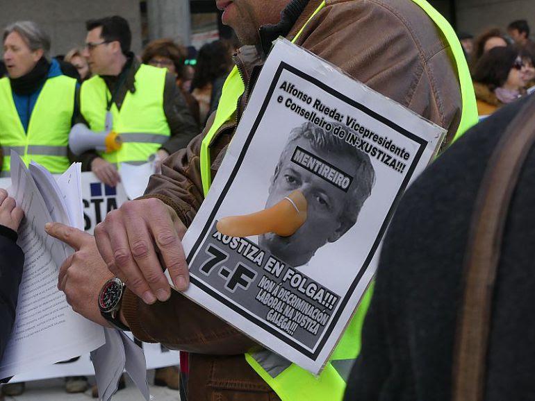 La huelga indefinida paraliza los juzgados gallegos