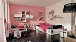 Bedroom. Cool Teenage Girl Bedrooms: Exquisite Pink And Black Cool ...