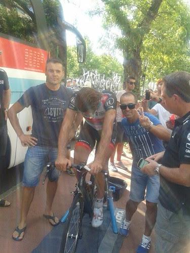 Con Fabian Cancellara del RadioShack-Leopard