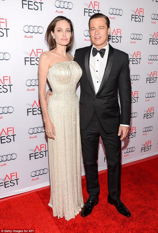 """Sobre ele: Chelsea, 41, chegou à atriz defesa quando o assunto de Brad Pit e desdobramento de Angelina Jolie surgiu em uma conversa com Grazia - dizendo que era """"as pessoas ridículas"""", pensou ela se importava"""