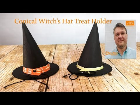 Conical Witch's Hat Treat Holder Video Tutorial Featuring Stampin' Up! p...