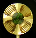 Hans Brassler peridot stickpin. (J9141)