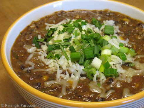 Quick and Easy Black Bean Chili - FarmgirlFare.com