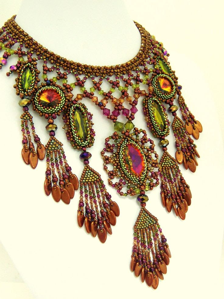 Bollywood Beauty by the Amazing HauteIceBeadwork - Marsha Wiest-Hines OMG!!!!!!!!!!!!!!!!!!!!!!!!!!!!!!!!!!!!!!
