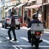 Semáforos quebrados na esquina das ruas Aurora e Andradas
