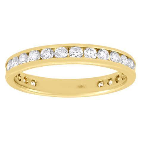 14k Yellow Gold Diamond Channel Set Wedding Engagement