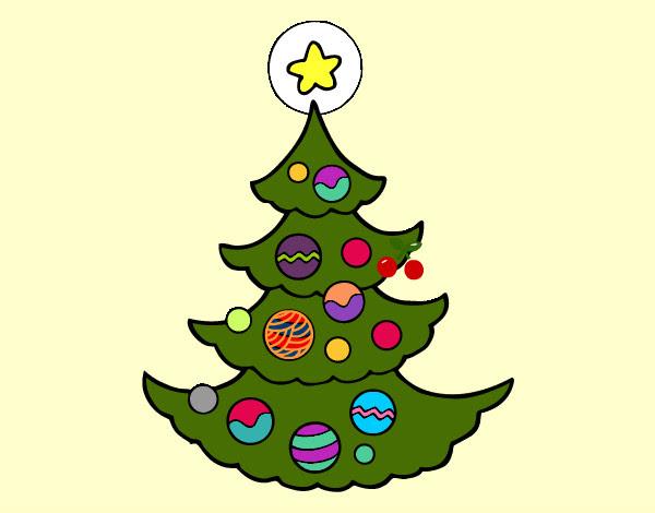 Dibujo De árbol De Navidad Pintado Por Guadita En Dibujosnet El Día