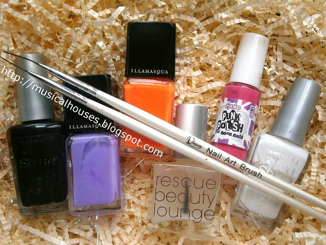 chalkboard manicure materials