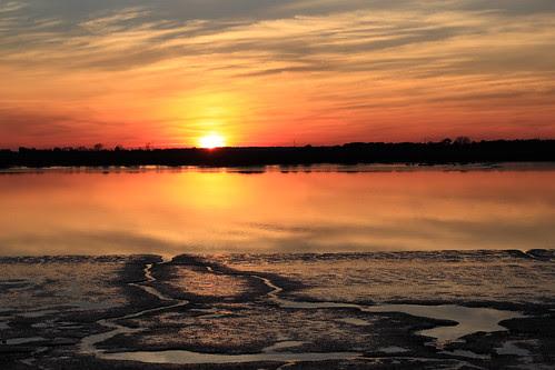 Jekyll River Sunset