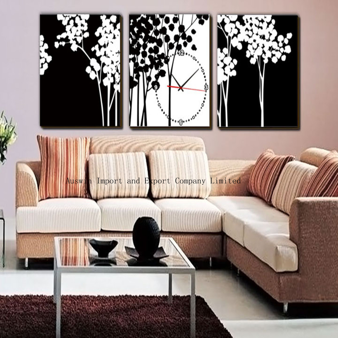 Living Room Decor With Wall Clock Hz Wall Decoration Pictures Wall Decoration Pictures
