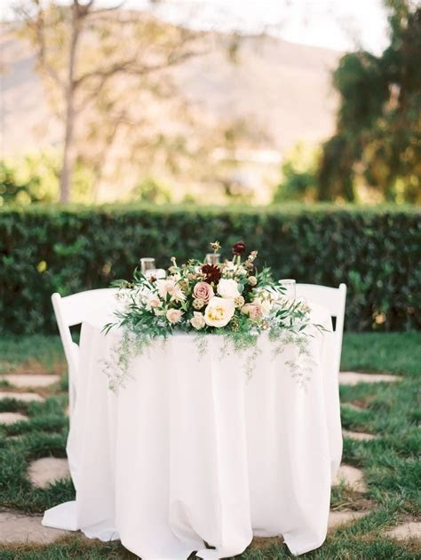 Charming   Romantic Maravilla Gardens Wedding   Burgundy