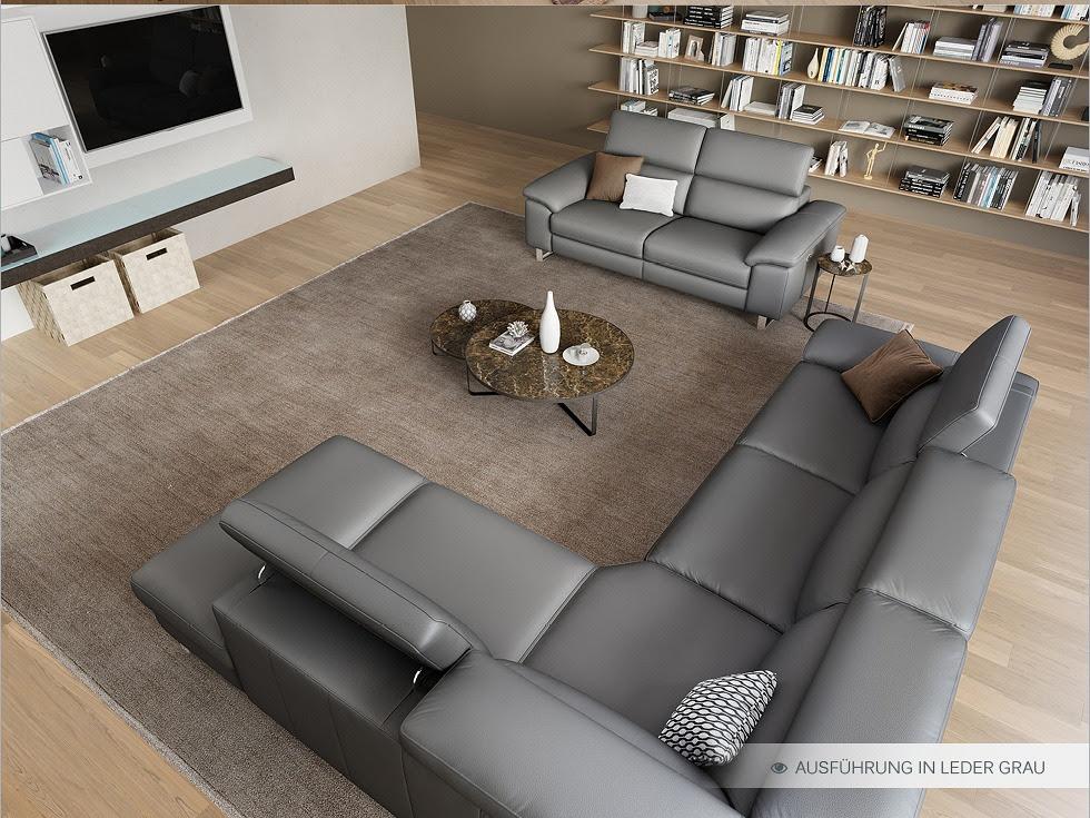 Funktionscouch Stoff Sofa Couch Polster Garnitur 2-Sitzer ...