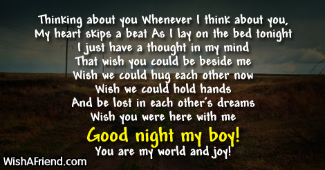 Thinking About You Good Night Poem For Him
