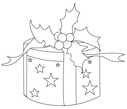 Coloriage De Cadeau De Noël Dessins à Colorier