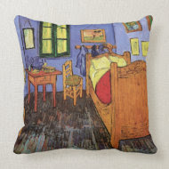 Vincent's Bedroom in Arles by Vincent van Gogh throwpillow