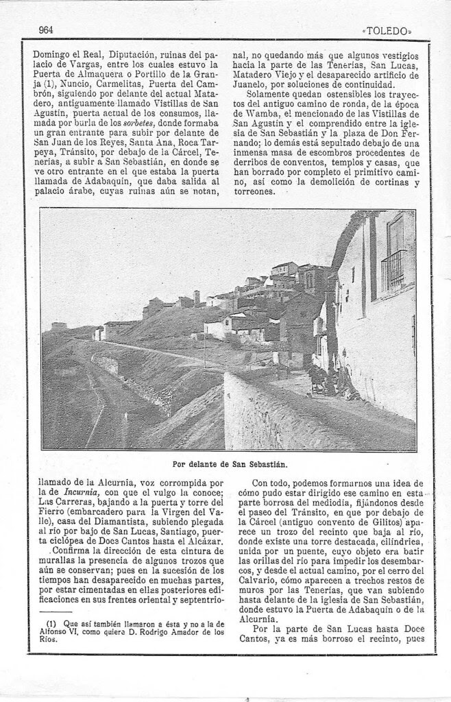 Artículo de Manuel Castaños y Montijano sobre la el nuevo Camino de Ronda de Toledo publicado en la Revista Toledo en julio de 1924. Pág. 3