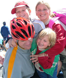 Ferenc' kids were excited to see him on the summit