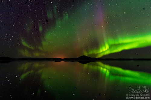Northern Lights Over Lake Mývatn, Iceland
