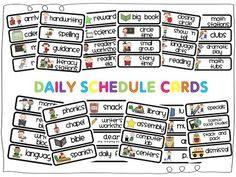 Daily Schedule Cards Printable | Daily Agenda Calendar