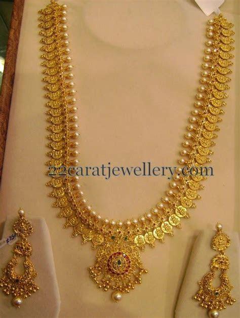 Kasu Mala with Chandbalis 150 Gms   Haram   Jewelry, Gold